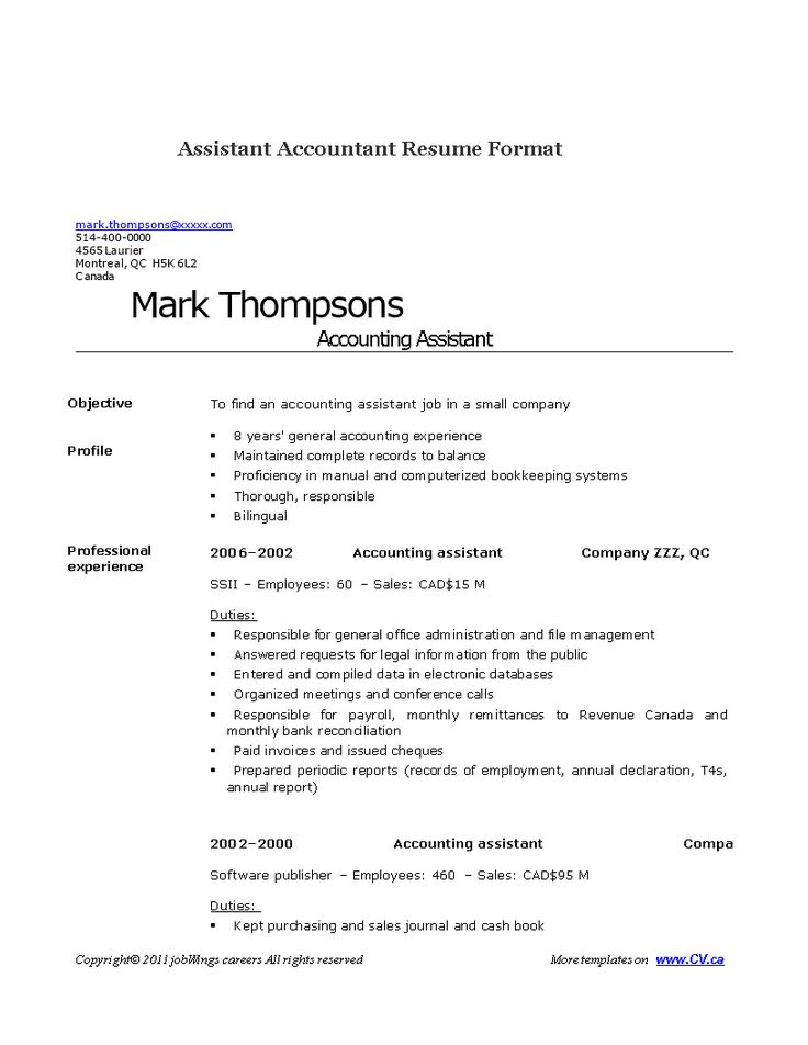 Assistant accountant resume how to create an assistant