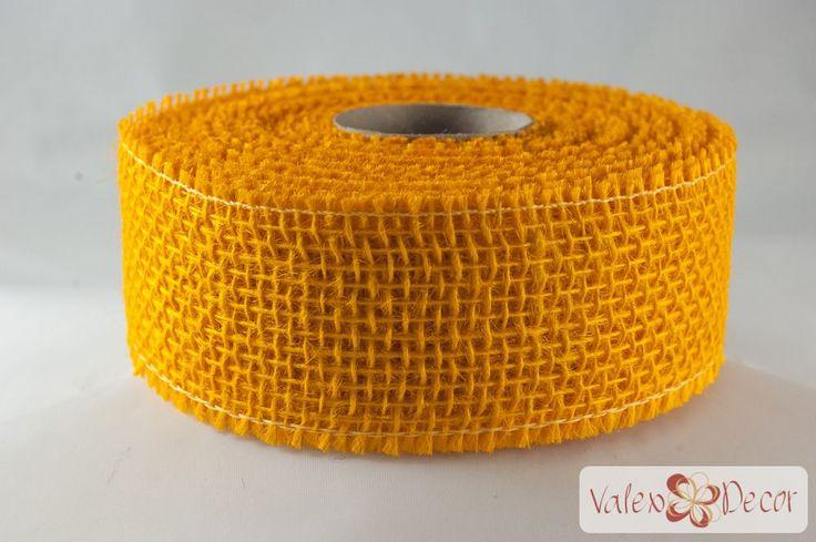 Juta szalag - Világos narancssárga - Valex Decor Kft. | Virágkötészeti kellékek és dekorációk webáruháza