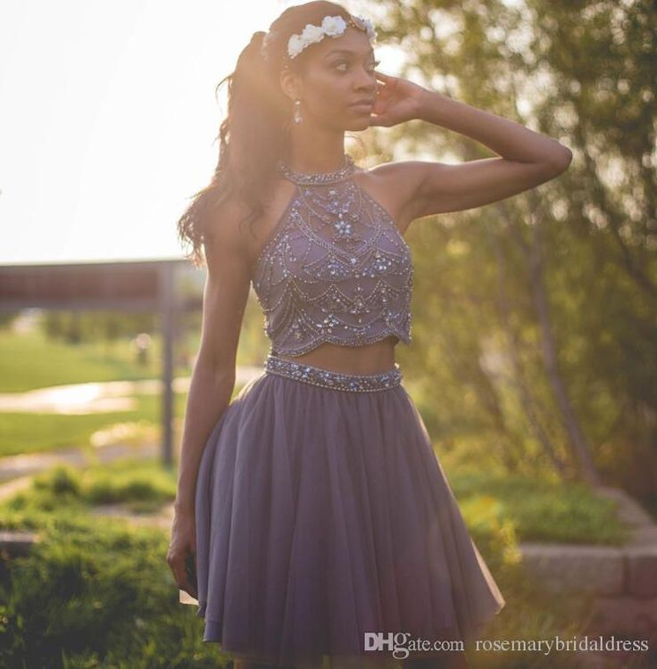 Two Pieces Homecoming Dresses Bling Bling Shinny Beading Party Dresses Short/Mini Prom Dresses Cocktail Dancing Gowns Homecoming Dress Bridesmaid Dress Short Prom Dresses Online with $154.29/Piece on Rosemarybridaldress's Store | DHgate.com