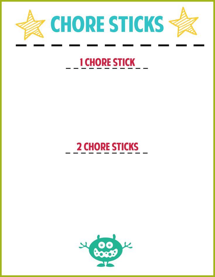 Best  Chore Sticks Ideas On   Weekly Chore List