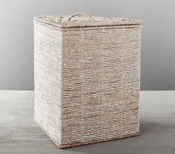 Silver Rope Corner Basket Hand Woven Baskets Pottery Barn Kids