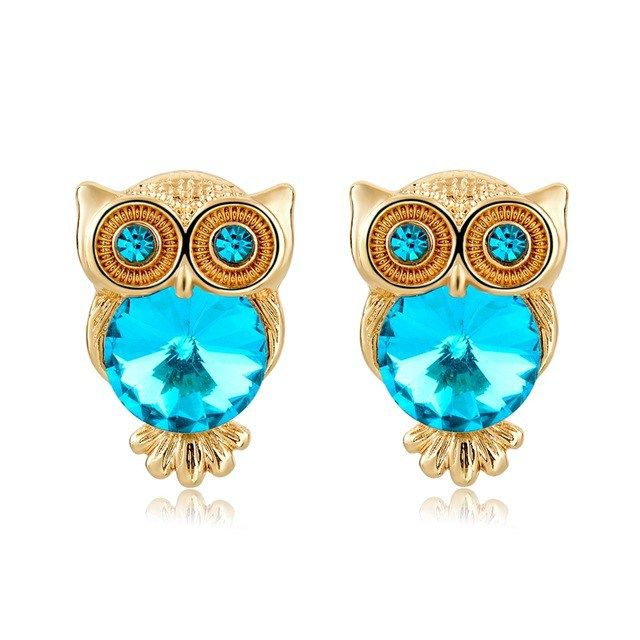 Crystal Owl Light Blue Glamorous Earrings //Price: $14.85 & FREE Shipping //     #jewelry #jewels #jewel #socialenvy #PleaseForgiveMe #fashion #gems #gem #gemstone #bling #stones #stone #trendy #accessories #love #crystals #beautiful #ootd #style #fashionista #accessory #instajewelry #stylish #cute #jewelrygram #fashionjewelry