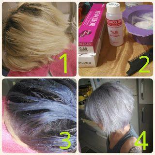Ev Yapımı Kozmetik: Gri Renk Saç / Lila ve Mavi Işıltılı Küllü Gri Saç...