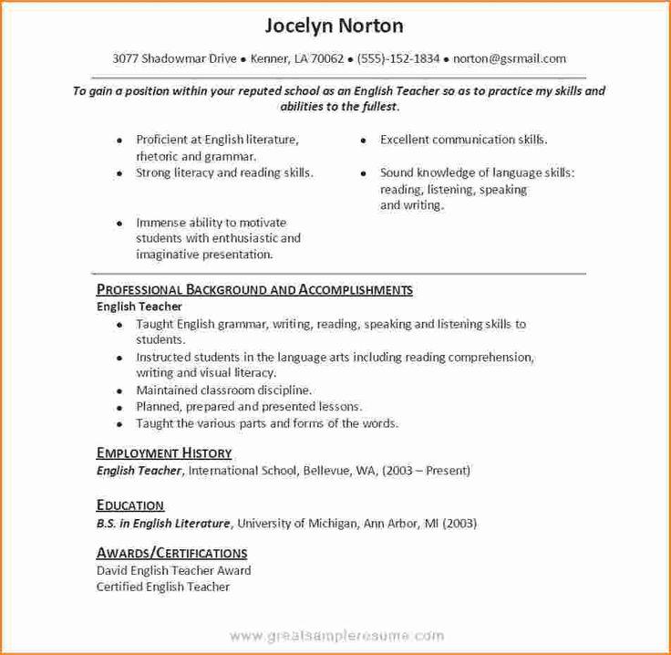 25+ parasta ideaa Pinterestissä Objetivos de curriculum - Social Worker Resume Examples