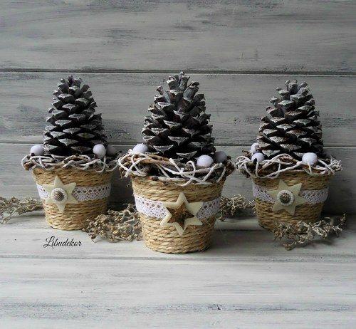 Vánoční dekorace..šiškobraní 3ks