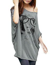 Allegra K Women's Batwing Sleeve Tunic Shirt
