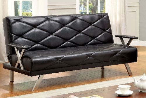 Furniture of America Vexus Adjustable Sofa/Futon CM2706BK