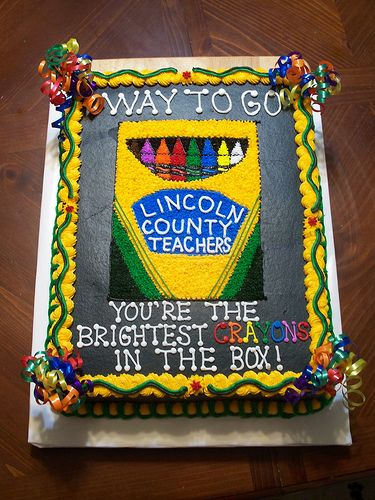 Crayon Cake by Cakes By Jen, via Flickr