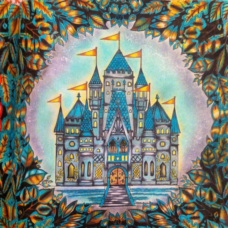 CASTELO DO LIVRO FLORESTA ENCANTADA Adult ColoringColoring BooksJohanna BasfordColoured PencilsTelescopeArt TherapyMarkersHappinessEnchanted Forest