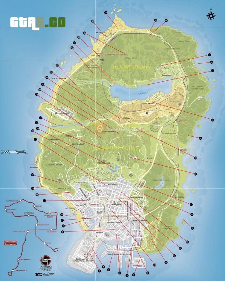 Secret Places Gta 5 Ps4: GTA 5 MAP : GTA 5 €� Grand Theft Auto V