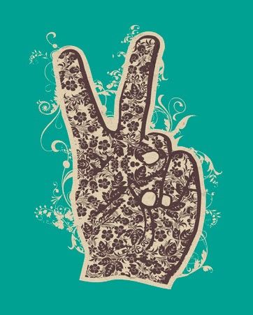 """""""Floral Peace"""" - canvas wall art at Wheatpaste Art Collective: Canvas Walls, Peace Canvas, Floral Peace, Peace Signs, Canvases Art, Canvas Wall Art, Art Collection, Rooms Ideas, Wheatpast Art"""