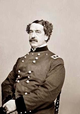 Union Gen. Abner Doubleday (June 26, 1819 – January 26, 1893).  He fired the first shot in defense of Fort Sumter, the opening battle of the war, and had a pivotal role in the early fighting at the Battle of Gettysburg. Gettysburg was his finest hour, but his relief by Maj. Gen. George G. Meade caused lasting enmity between the two men.
