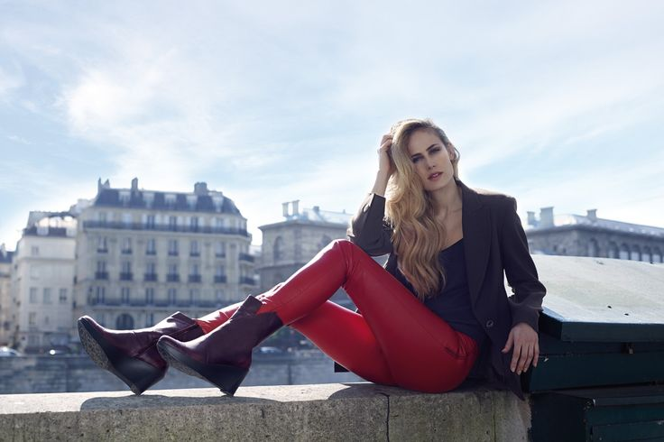 NAOT - ELLA Volcanic Red (Lifestyle Image) #NAOT #footwear #shoes #boots #orthoticfriendly #removableinnersole #fashion #comfort #bestseller #paris #israel #supermodel #leftbank