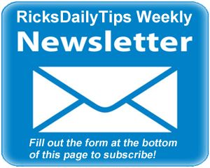 RicksDailyTips Weekly Newsletter for Jan 23, 2016 – Protect your accounts with Two-Factor Authentication