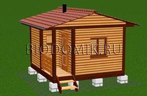 Маленькая баня 4х4 » Проект готовый для строительства » Строительство в Ленобласти и Подмосковье