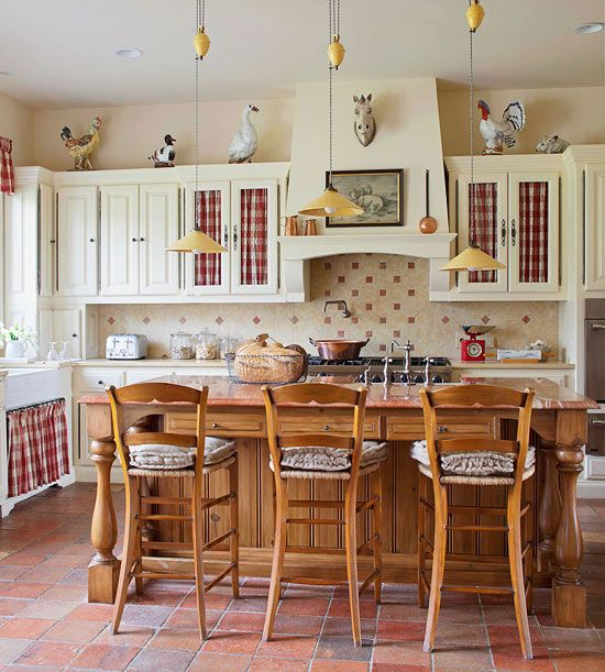 country kitchen via better homes and gardens wwwbhgcom - Better Homes And Gardens Kitchen Ideas
