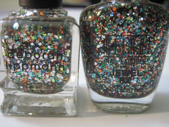 Milani : dupe for Deborah Lippmann nail polish: Happy Birthday, Birthday Dupes
