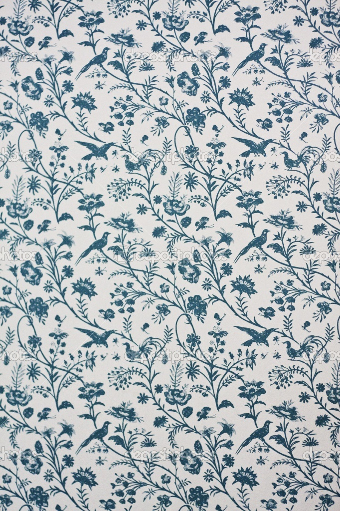 Victorian wallpaper victorian style pinterest nature for Blue wallpaper for walls