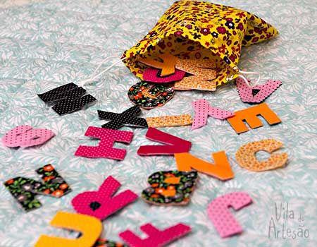 Jogo educativo feito com tecido fast patch: faça você mesmo com as crianças