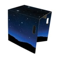 Sgabello in cartone modello STARS: semplice da montare ed estremamente originale
