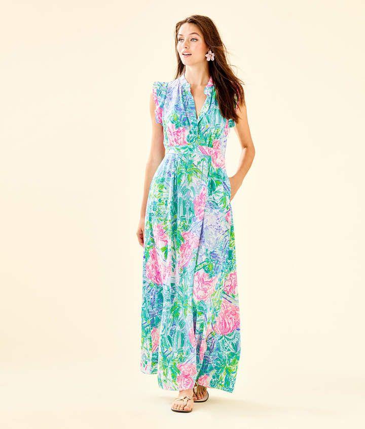 369f47228c5cb5 Lilly Pulitzer Palm Beach Silk Maxi Dress #Palm#Pulitzer#Lilly ...
