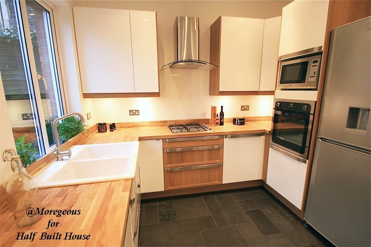 Half built house exeter ikea abstrakt kitchen diner for Kitchen design exeter