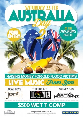 Australia Day 2 - poster design for Magnums Hotel Airlie Beach by Copirite