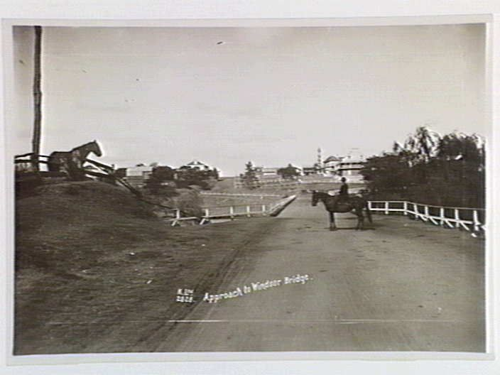 Approach to Windsor Bridge. 1933