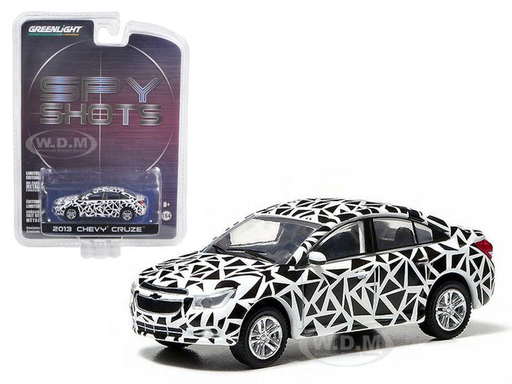 "2013 Chevrolet Cruze ""Spy Shot"" Hobby Exclusive in Blister Pack 1/64 Diecast Car Model Greenlight 29779"