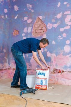 Wände glatt verputzen