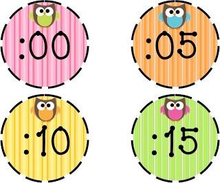 tijdcirkels voor om de klok