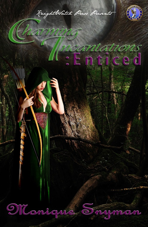 """My first novel in the Charming Incantations Series, which is called """"Charming Incantations: Enticed"""". It's a young adult fantasy romance filled with non-sparkling vampires and some vicious werewolves who are fighting against the Goblin Lord."""