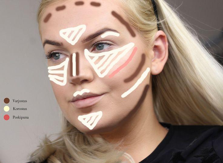 Kasvojen varjostaminen on hyvin suosittu meikkitrendi ja monet yrittävät tavoitella täydellistä 'contouria' kasvoilleen. Katso ohje tästä!