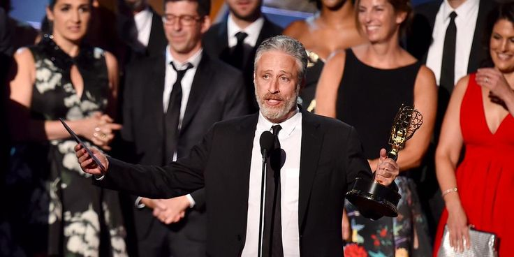 Jon Stewart gave a great Emmys acceptance speech about how much he misses 'The Daily Show' http://read.bi/1Qs6hN8