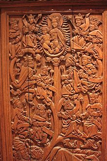 The Tree of Jesse is a depiction in art of the ancestors of Christ, shown in a tree which rises from Jesse of Bethlehem, the father of king David and is the original use of the family tree as a schematic representation of a genealogy.A 17th-century oak carving of the Tree of Jesse from St Andrews Castle, Royal Scottish Museum.