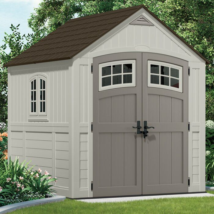 Suncast Cascade Plastic Storage Shed Reviews Wayfair In 2020 Plastic Storage Sheds Wood Storage Sheds Storage Shed Plans