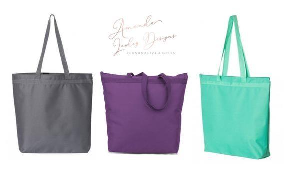 Personalized Large Tote Bag, Custom Bridesmaid Tote