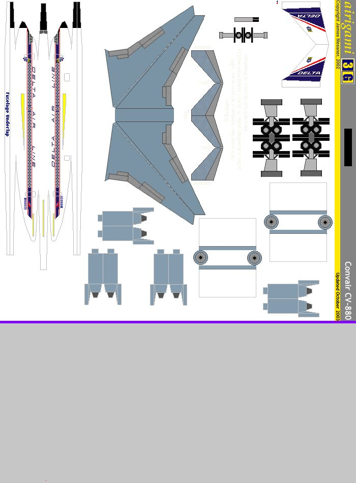 Cv 880 Paper Model Paper Airplane Models Paper Aircraft Paper Models
