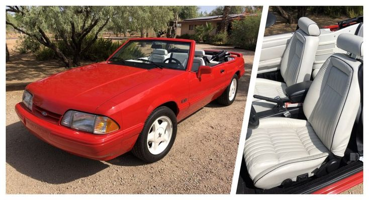 3 000 Mile 1992 Ford Mustang Convertible Summer Edition Is A Total Fox Carscoops In 2020 Mustang Convertible Ford Mustang Convertible Ford Mustang
