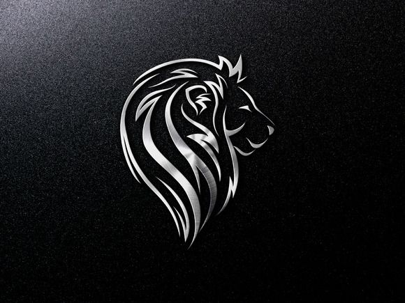 Lion Head logo Template by Lemon Workshop on Creative Market