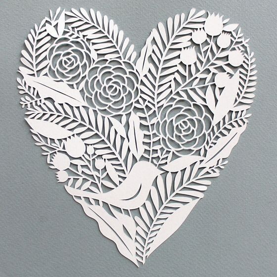 20 best hearts images on pinterest hearts paper hearts for Beautiful paper cutting art