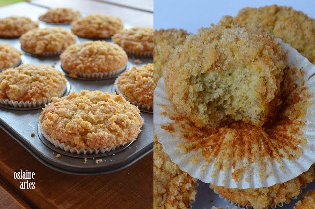 Muffins de Banana com Cobertura Crocante
