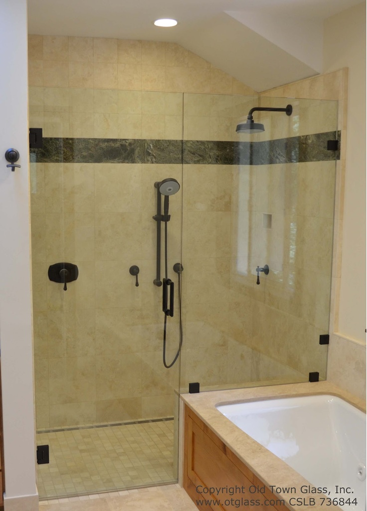 Glass shower doors google search bathroom ideas for Google bathroom ideas