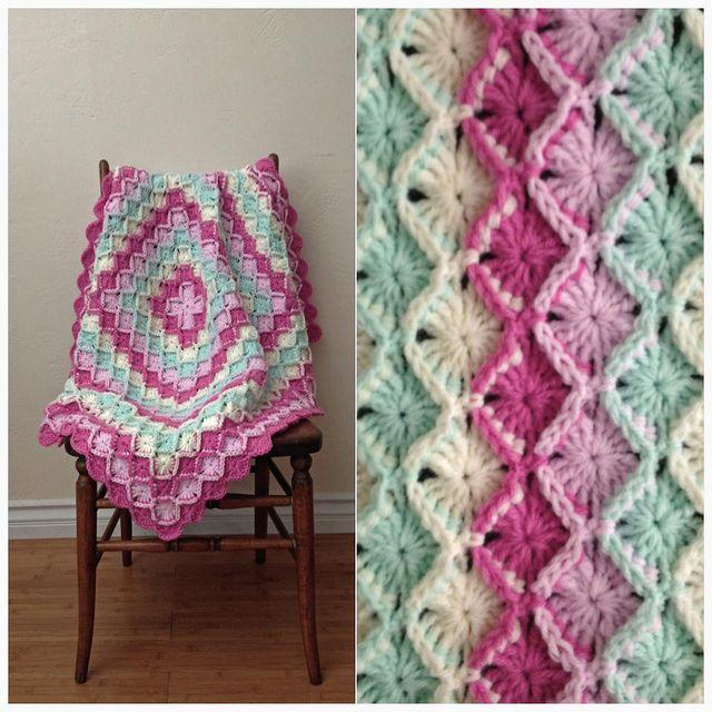 Pastel Baby Blanket For Cami Crocheted Bavarian Stitch