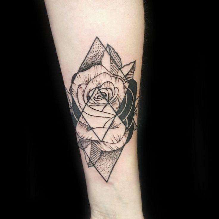 geometric rose tattoo georgina may primitive tattoo