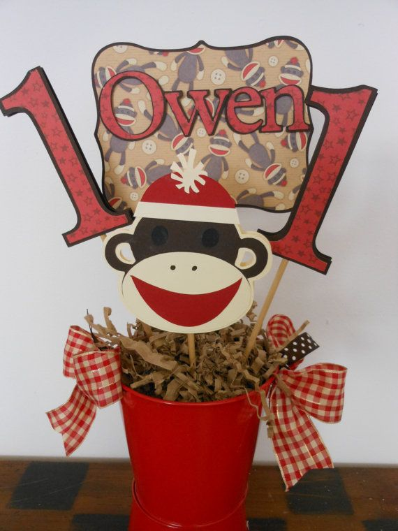 sock monkey centerpiece ideas - Google Search