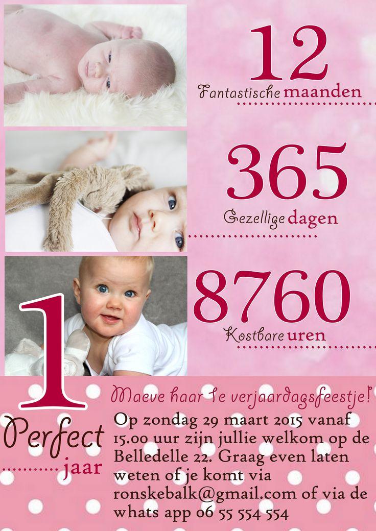 verjaardagskaart baby 1 jaar