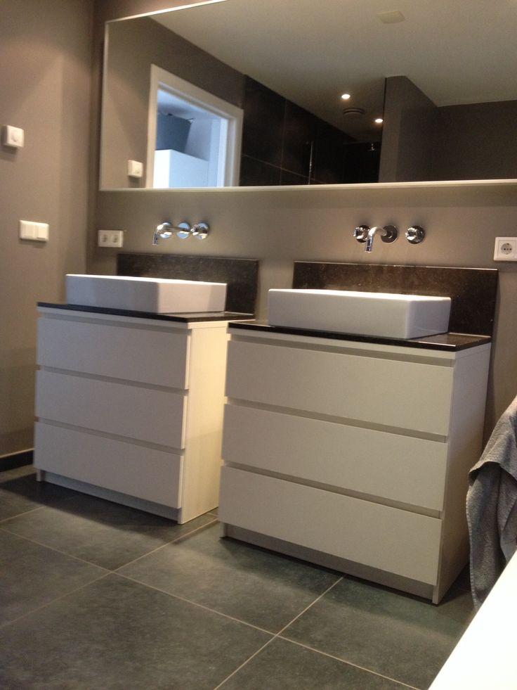 Ikea hack ladekast en spiegel vaesinhuis badkamer pinterest ikea - Spiegel draaibare badkamer ...