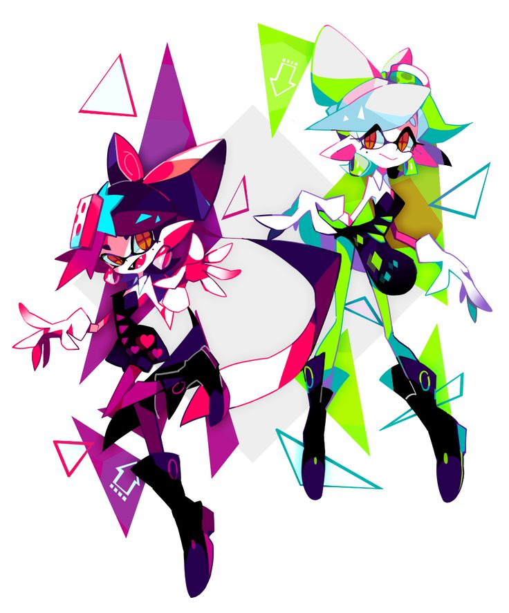 Splatoon Squid Sisters by hidorozoa on Tumblr #splatoon #squidsisters #callie…