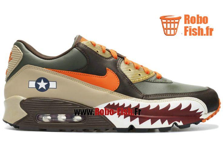 "Nike Air Max 90 Premium ""Warhawk"" - Chaussure Nike Running Pas Cher Pour Homme Armée/Noire 315728-381"